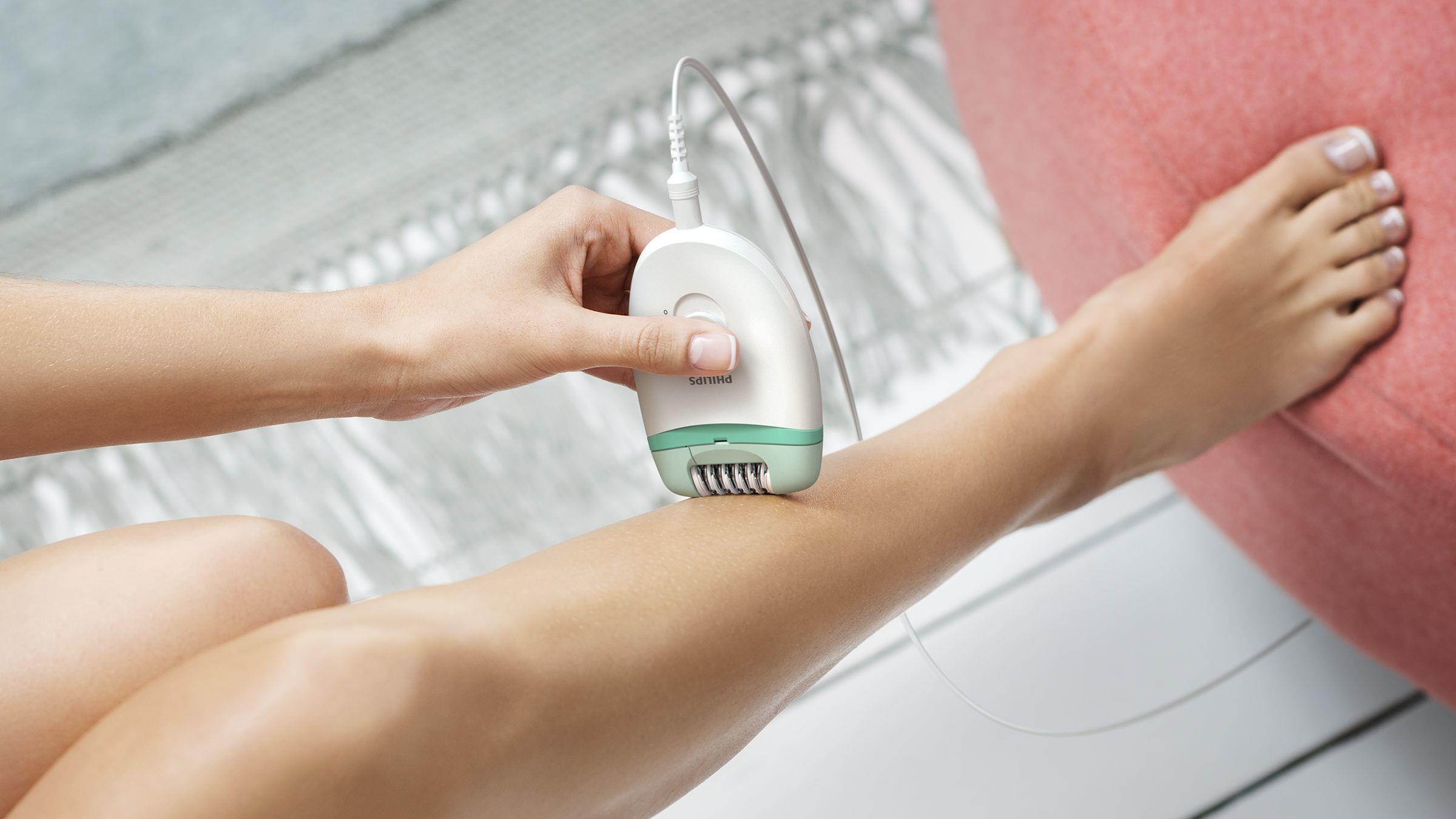 Удаление волос домашним эпилятором
