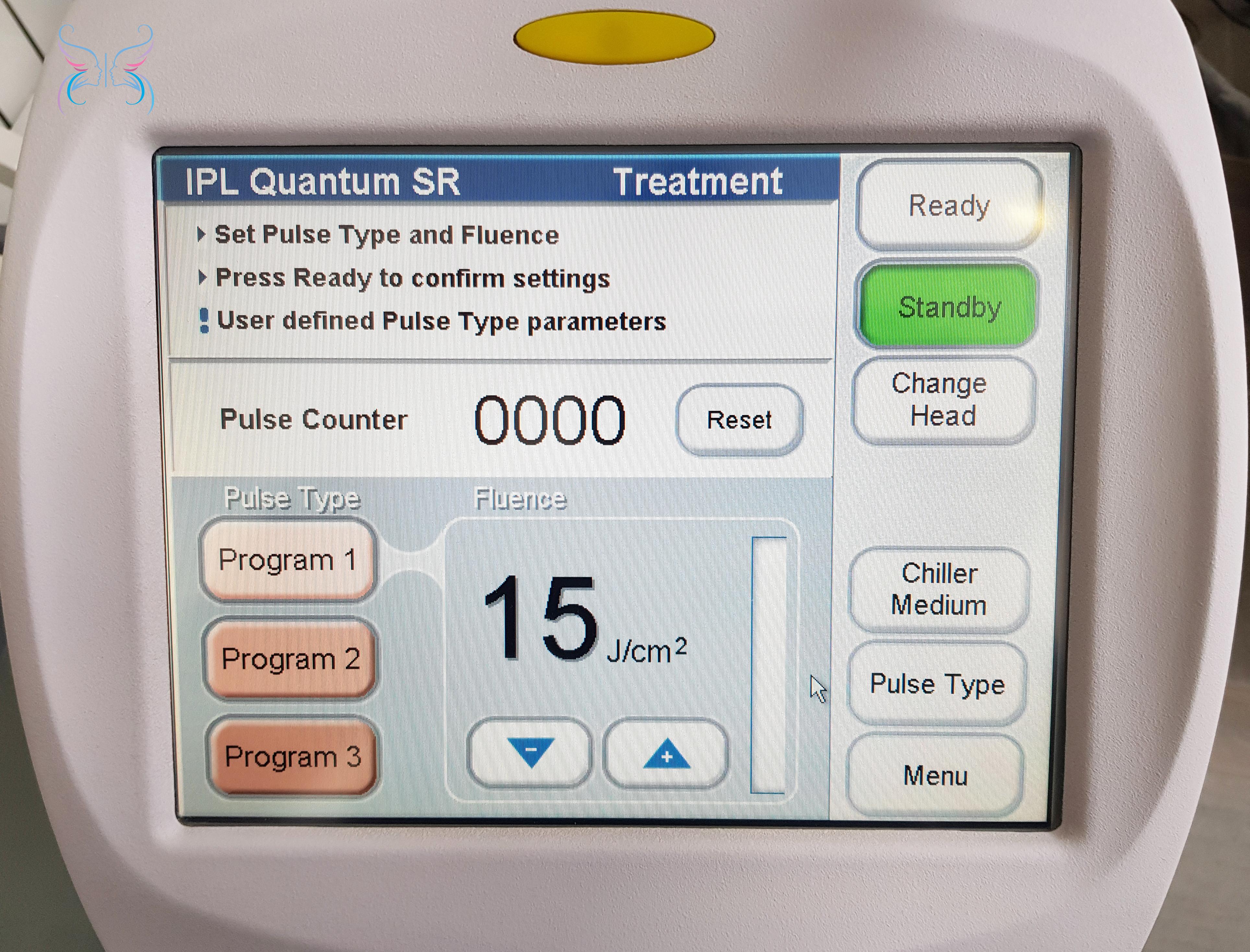 Меню настроек IPL Quantum