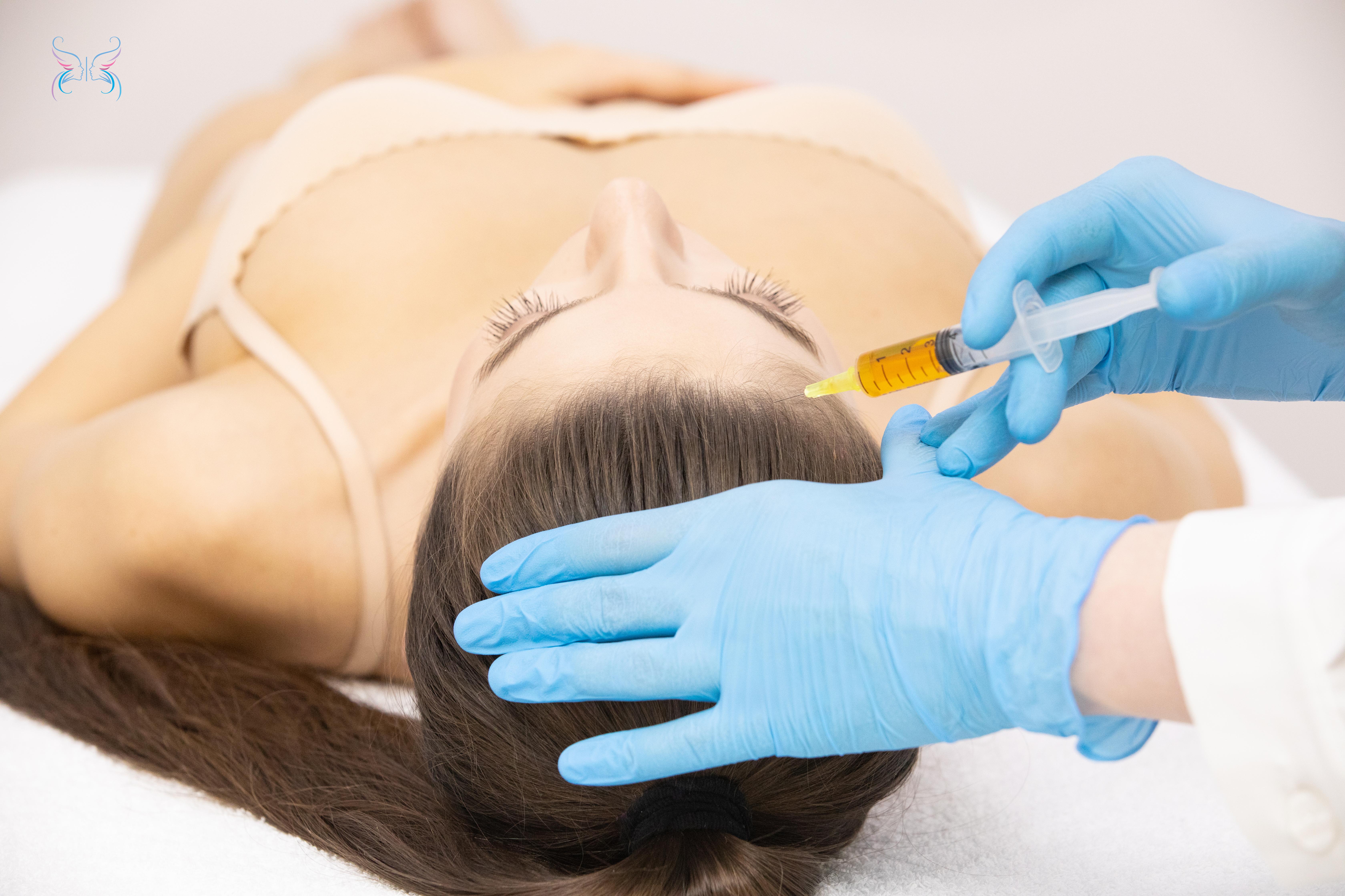 Плазма применяется при борьбе с выпадением волос на голове