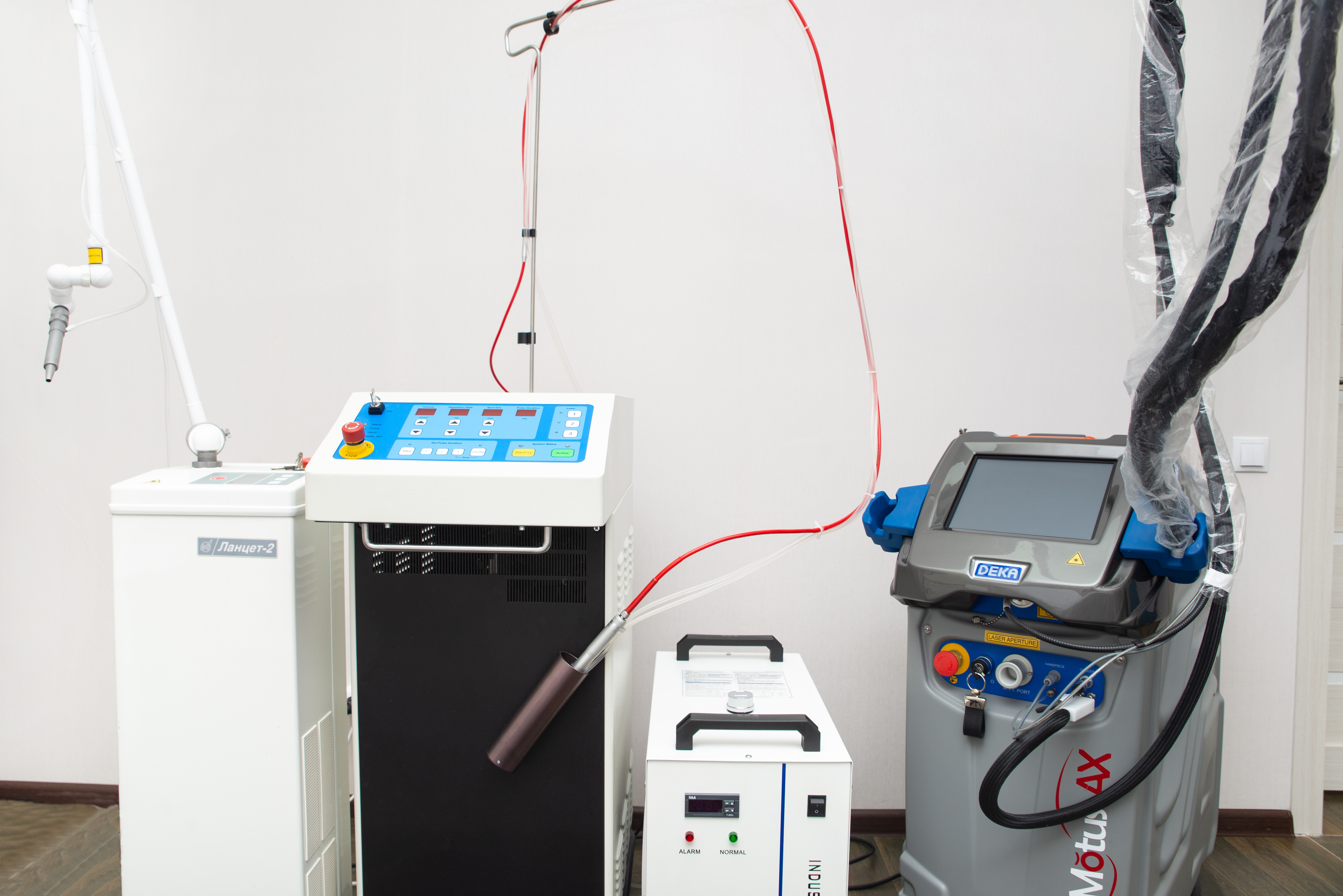Александритовые лазеры для эпиляции (Irradia Triple, DEKA Motus AX Moveo)